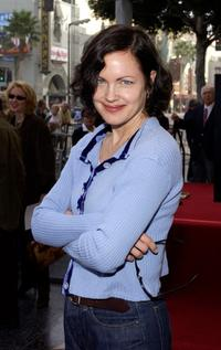 Elizabeth McGovern at the ceremony honoring actor Randy Quaid with a star on the Hollywood Walk of Fame.