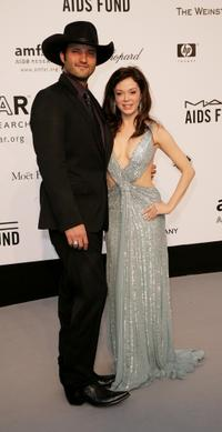 Rose McGowan and Robert Rodriguez at the Cinema Against AIDS 2007 in aid of amfAR.