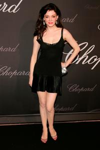 Rose McGowan at the The Chopard Trophy during the 60th International Cannes Film Festival.