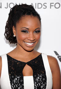 Shanola Hampton at the 21st Annual Elton John AIDS Foundation Academy Awards Viewing party in California.
