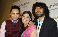 Taika Waititi, producers Ainsly Gardiner and Cliff Curtis at the opening night of National Geographic's All Roads Film Festival.