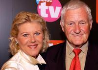 Alley Mills and Orson Bean at the TV Guide & Inside TV 2005 Emmy after party.