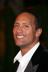 Dwayne Johnson at the Vanity Fair Oscar party.