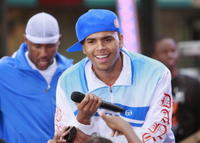 Chris Brown performs on NBC's