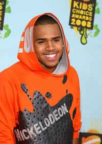 Chris Brown at the Nickelodeon's 2008 Kids' Choice Awards.