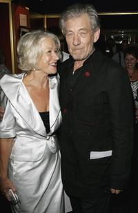 Sir Ian McKellen and Helen Mirren at the premiere of