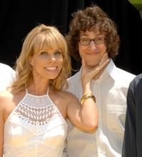 Cheryl Hines and Andy Samberg at the premiere of