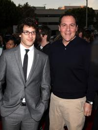 Andy Samberg and Guest at the premiere of