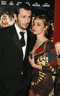 Emmanuelle Beart and Michael Cohen at the premiere of