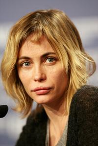 Emmanuelle Beart at the press conference to promote the movie