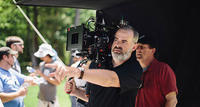Directors Alex Kendrick on the set of