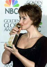 Janet McTeer at the 57th Golden Globes awards.