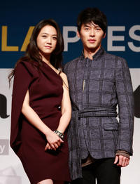 Tang Wei and Hyun Bin at the Gala presentation of