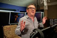 Colm Meaney on the set of