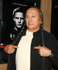 Russell Means at the premiere screening of