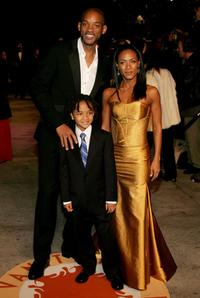 Will Smith, Jaden Smith and Jada Pinkett Smith at the 2007 Vanity Fair Oscar Party.