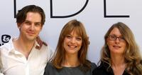 Dan Stevens, Heike Makatsch and producer Judy Tossell at the photocall of