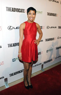 Tracey N. Heggins at the Advocate's 45th Anniversary Presented by Lexus in California.