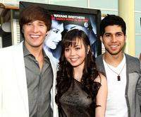 Paul McGill, Ana Maria Perez de Tagle and Walter Perez at the premiere of