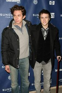 Aaron Himelstein and Reece Thompson at the premiere of