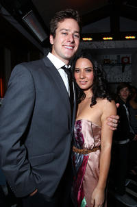 Armie Hammer Jr. and Olivia Munn at the InStyle and the Hollywood Foreign Press Association Host Miss Golden Globes party.