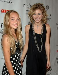 Kelsey Lynn Batelaan and AnnaLynne McCord at the Season 5 Premiere Of