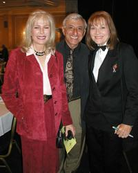 Loretta Swit, Jamie Farr and Lee Meriwether at the Pacific Pioneer Broadcasters Radio and Television Awards luncheon.