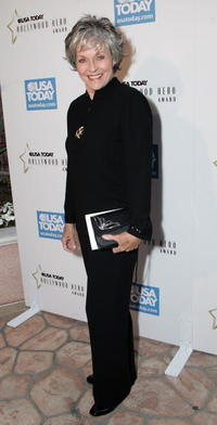 Lee Meriwether at the celebration honoring Geena Davis as this year's Hollywood Hero by USA Today.