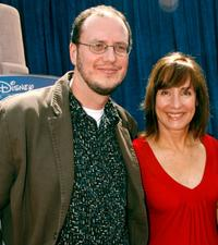 Director Stephen J. Anderson and Laurie Metcalf at the world premiere of