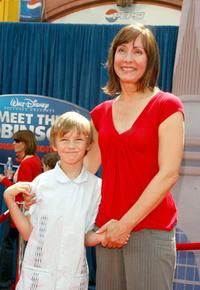 Laurie Metcalf and her son Donovan at the world premiere of Disney's