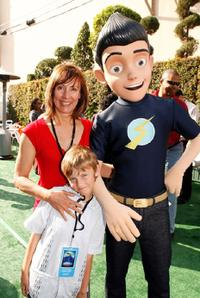 Laurie Metcalf, her son Donavan and Wilber at the after party for the premiere of Disney's