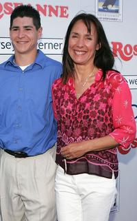 Michael Fishman and Laurie Metcalf at the DVD launch of