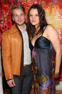 Lou Taylor Pucci and Frankie Shaw at the after party of the New York premiere of