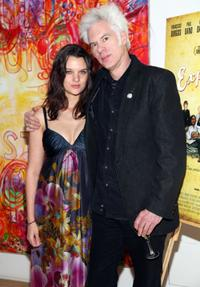 Frankie Shaw and Jim Jarmusch at the after party of the New York premiere of