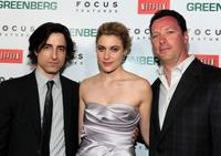 Director Noah Baumbach, Greta Gerwig and Andrew Karpen at the Los Angeles premiere of