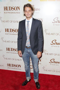 Luke Grimes at the The Art Of Elysium's Genesis in California.