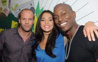 Jason Statham, Natalie Martinez and Tyrese Gibson at the MTV's TRL in Times Square.