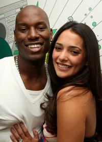 Tyrese and Natalie Martinez at the MTV's Mi TRL at MTV studios.