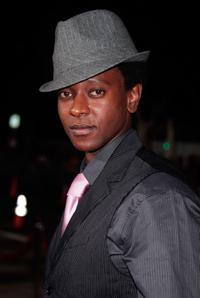 Edi Gathegi at the premiere of