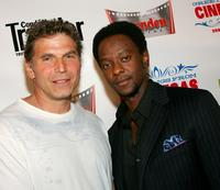 Nick Chinlund and Edi Gathegi at the world premiere of