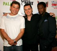 Nick Chinlund, Amir Mann and Edi Gathegi at the world premiere of