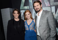 Producer Megan Ellison, Jessica Chastain and Mark Boal at the California premiere of