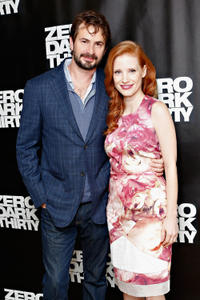 Mark Boal and Jessica Chastain at the photocall of