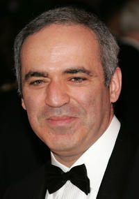 Garry Kasparov at the Time Magazine's celebration of the 100 most influential people in New York.