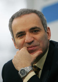 Garry Kasparov at the opening day of the Leipzig Book Fair 22 March 2007 in Germany.