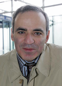 Garry Kasparov at the European Court of Human Rights (ECHR) in France.