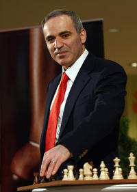 Garry Kasparov at the chess competition