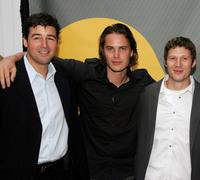 Kyle Chandler, Taylor Kitsch and Zach Gilford at the NBC Upfronts at Radio City Music Hall.