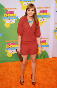 Aimee Teegarden at the Nickelodeon's 24th Annual Kids' Choice Awards in California.