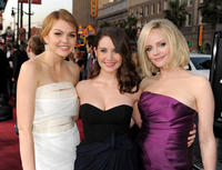 Aimee Teegarden, Alison Brie and Marley Shelton at the California premiere of